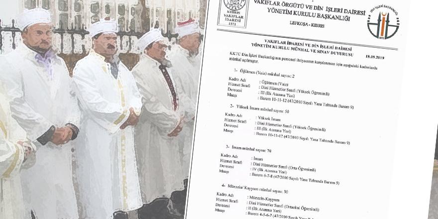 'Din İşleri' için 152 kişilik münhal