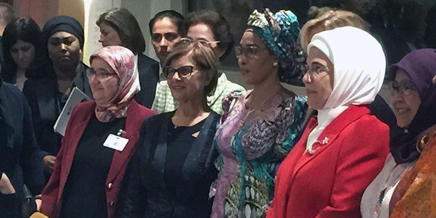 Meral Akıncı, Emine Erdoğan ile bir araya geldi