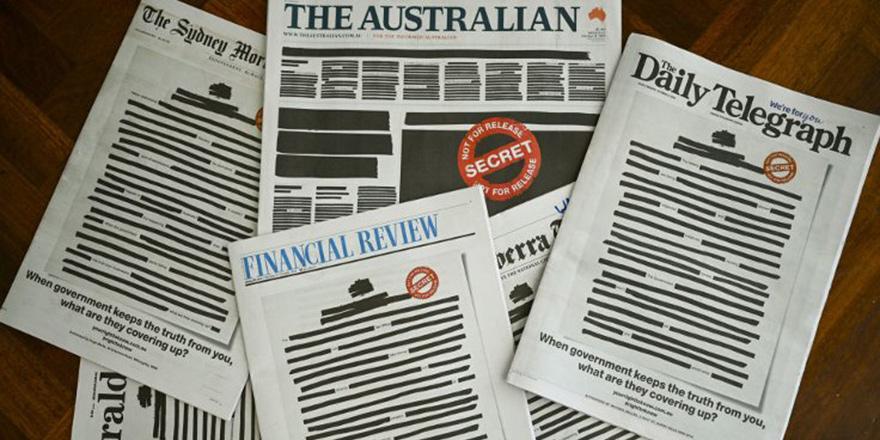 Gazeteler sayfa kararttı