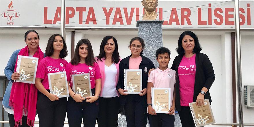 Lapta Yavuzlar Lisesi'de kanser farkındalığı