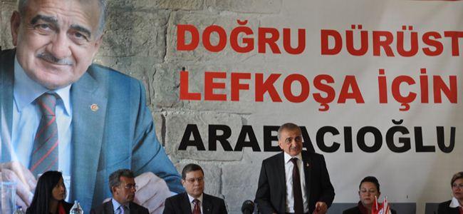 Arabacıoğlu Lefkoşa için projelerini anlattı