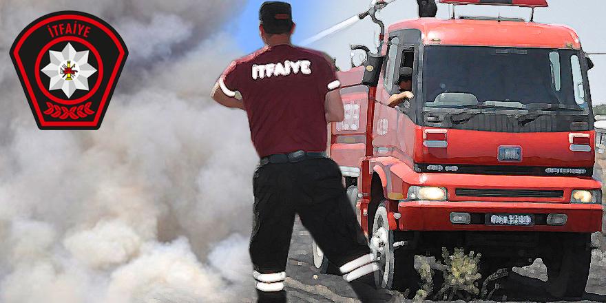 Kanlıköy'de yangın: 15 dönümlük biçilmemiş arpa yandı