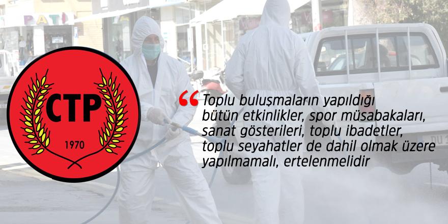 """CTP: """"Hükümet derhal ek karantina merkezleri oluşturmalıdır"""""""