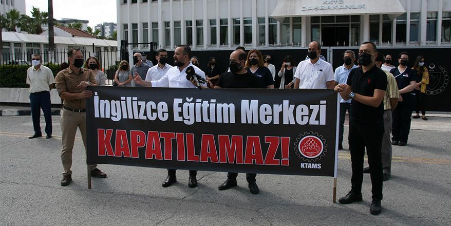 KTAMS'tan Başbakanlık önünde protesto