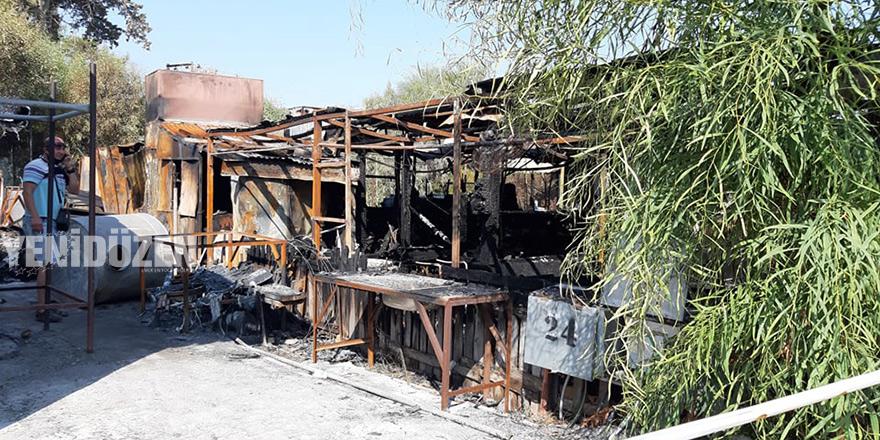 Şüpheli yangın: Zurnacılar'ın karavanı yandı