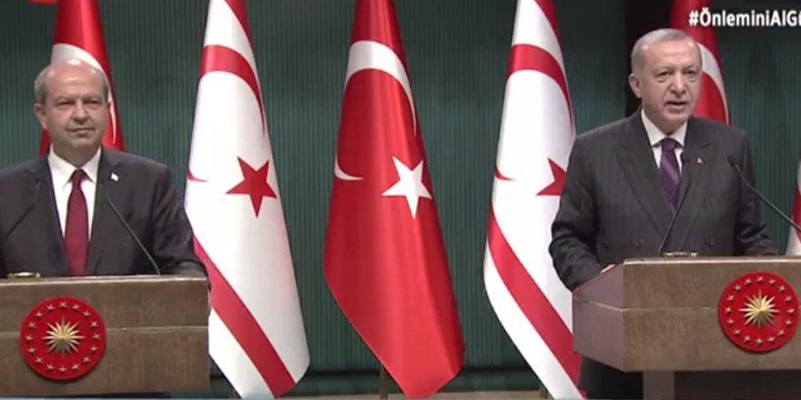 Erdoğan-Tatar'dan karşılıklı teşekkür