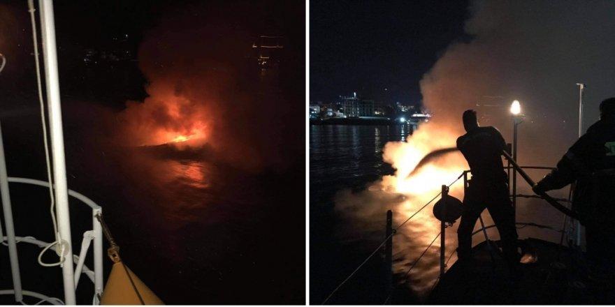 Tekne patladı, yandı, battı…