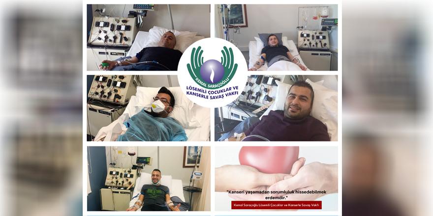 10 ayda beş gönüllü hastalara umut oldu