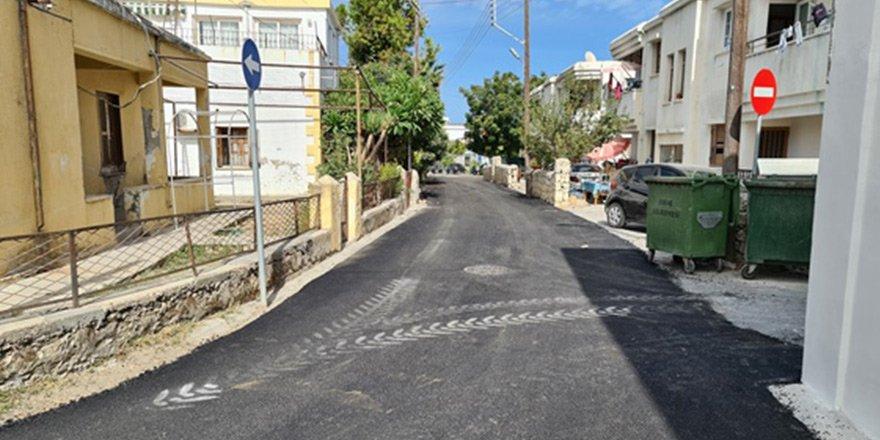 Girne'de asfaltlama çalışması yapıldı
