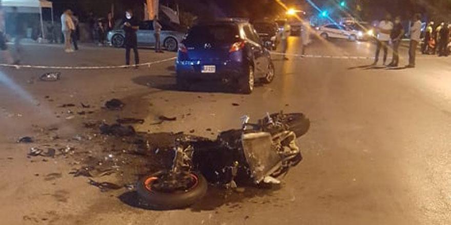 Girne'de ölümlü kaza!