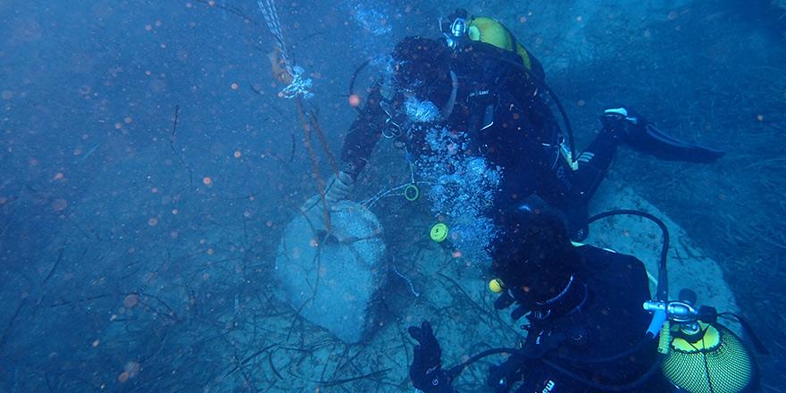 3 bin yıllık Mısır çapası denizden çıkarıldı