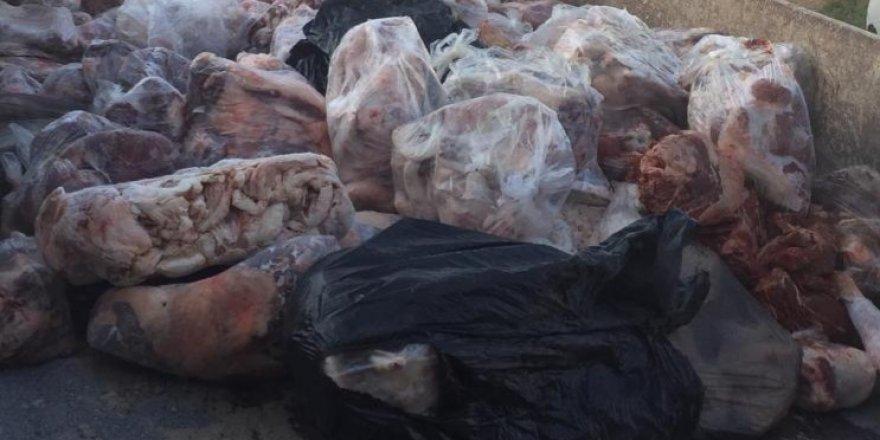 Demirhan'da 1603 kilo kaçak et