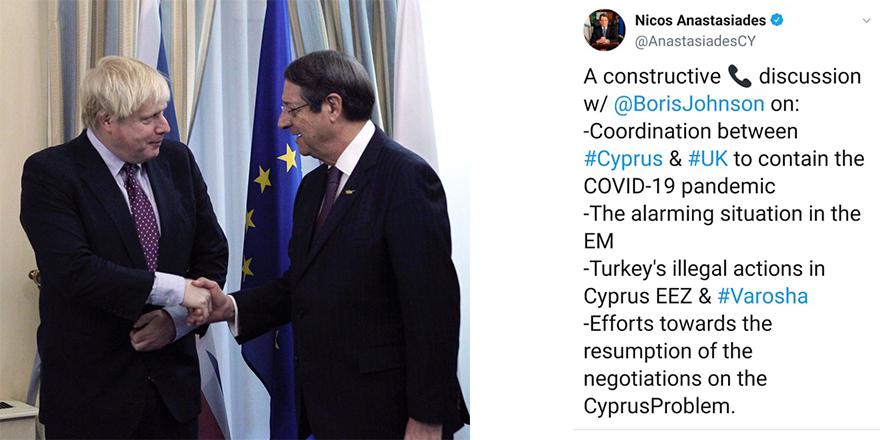 Anastasiadis-Johnson: Kıbrıs için aktif rol
