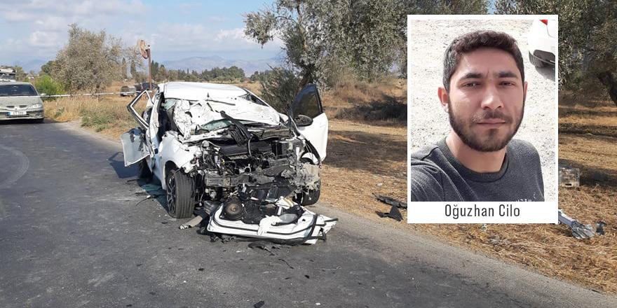 Traktöre çarptı, 1 ölü, 1 yaralı