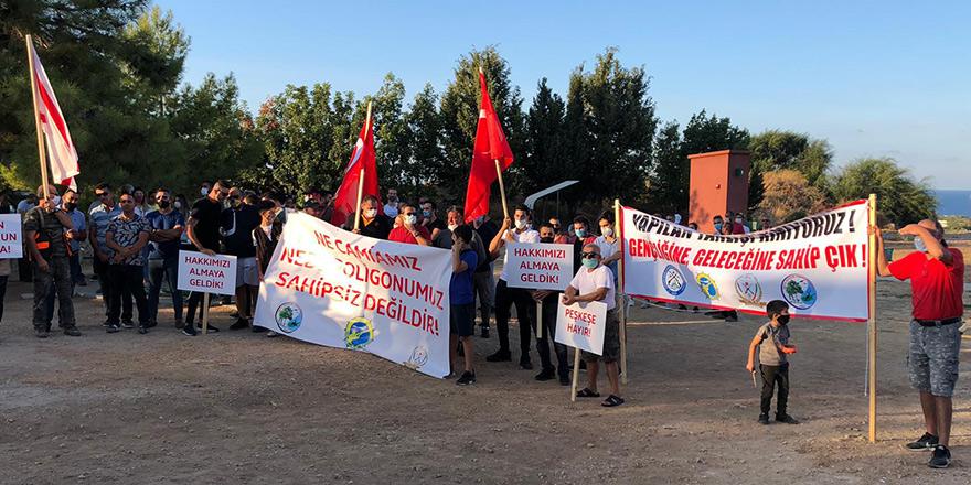 Girne Avcılık ve Atıcılık Klübü'ndan protesto