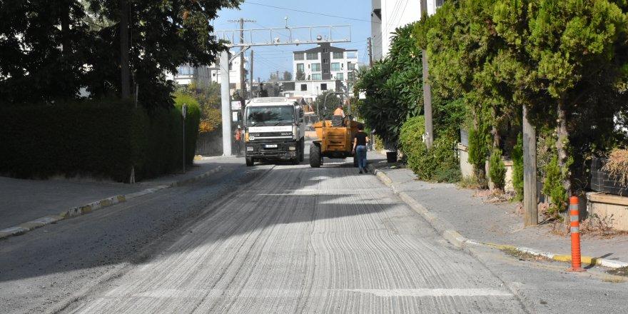 Girne'de asfaltlama çalışmaları gerçekleştirildi
