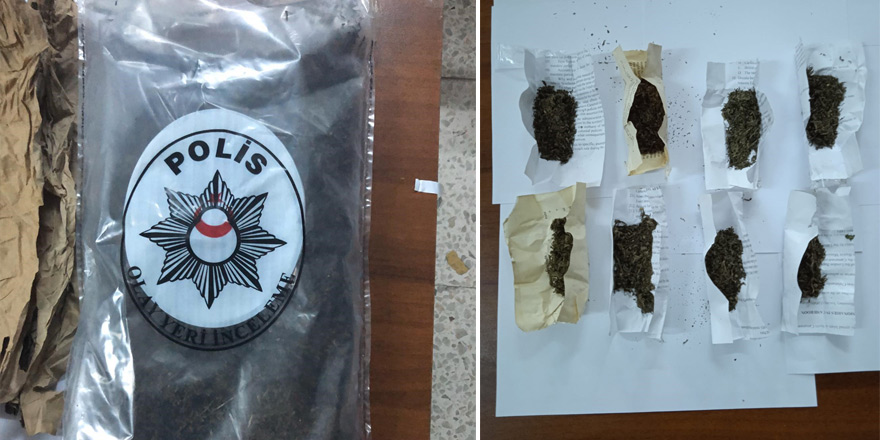 1 kilogram ağırlığında uyuşturucu ele geçirildi