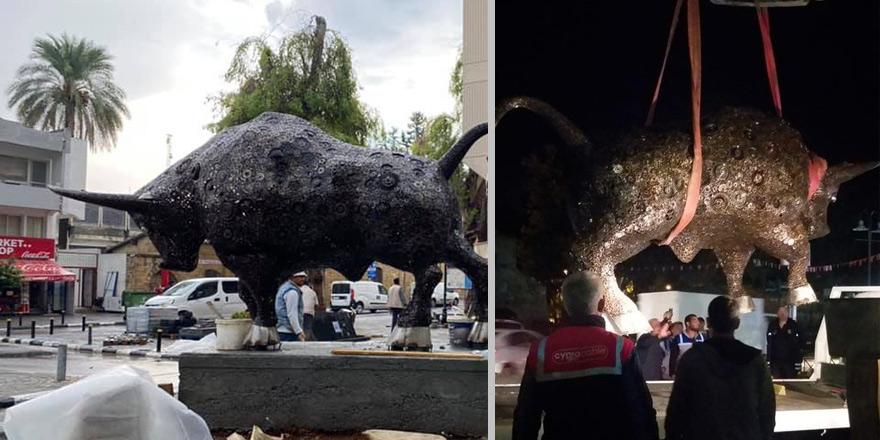 Lefkoşa'daki heykel söküldü