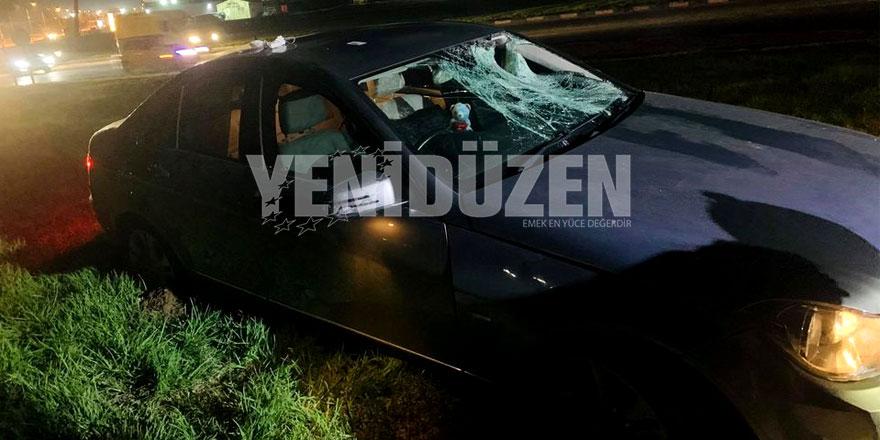 Gönyeli'de kaza:  Yoldan çıktı, yayayı ezdi