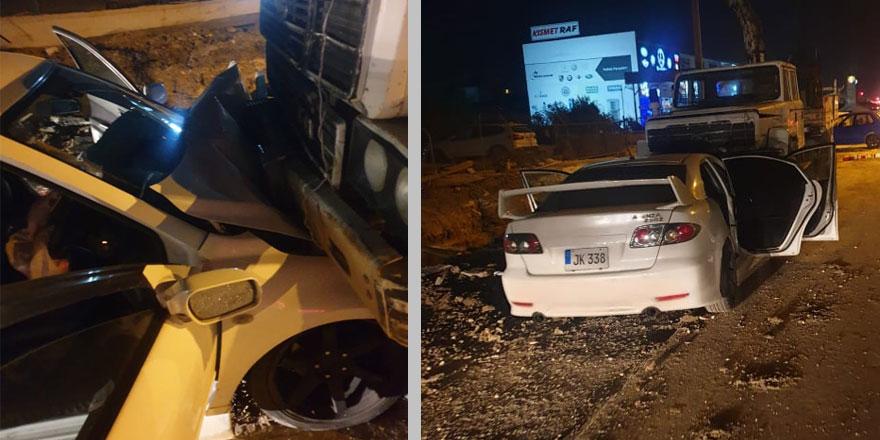 Lefkoşa'da kaza ucuz atlatıldı