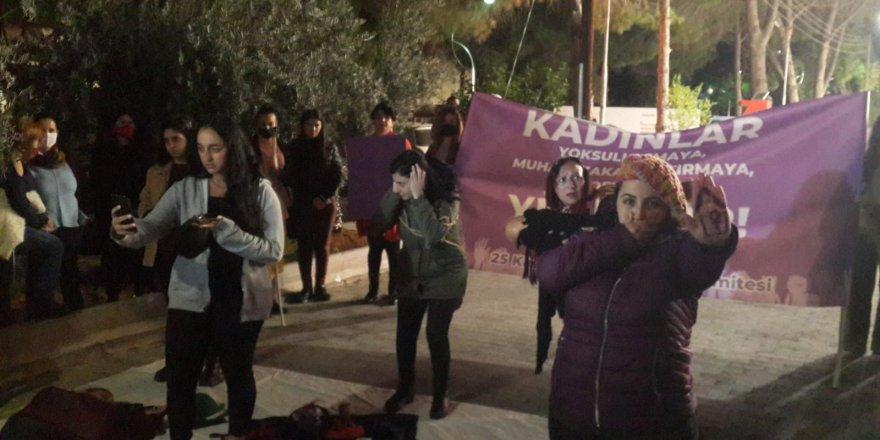 Kadına şiddete karşı yürüdüler