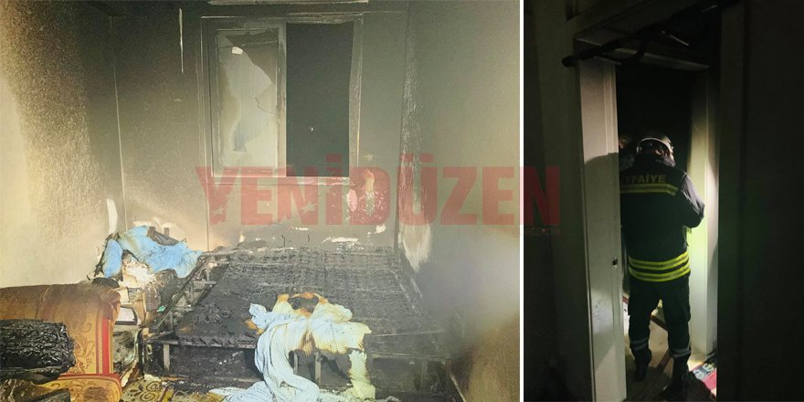 Demirhan'da ev yangını