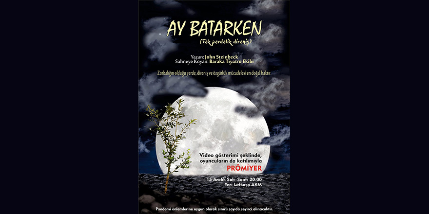 """""""Ay Batarken"""" farklı formatla tiyatro severlerin karşısında"""
