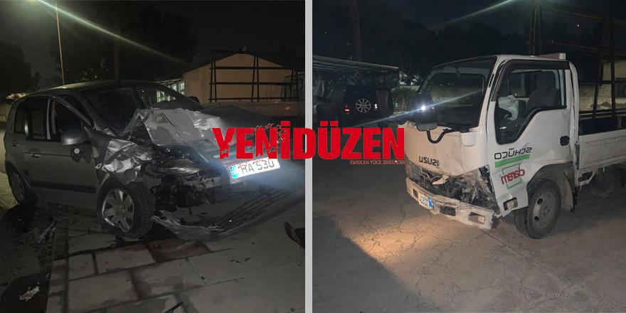 Lefkoşa'da kaza: Vurdu, kaçtı