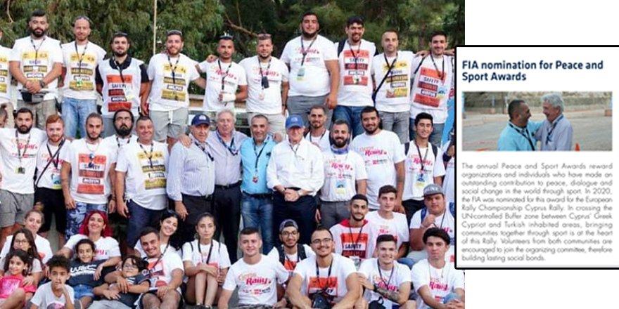 FIA Barış ve Spor Ödülüne ERC Lefkoşa etabındaki çalışma aday gösterildi