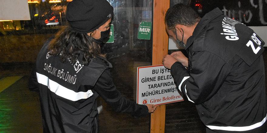 Girne'de 4 işyerinin faaliyetleri durduruldu