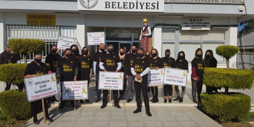 """Akdoğan'da """"Farkındalık yürüyüşü"""""""