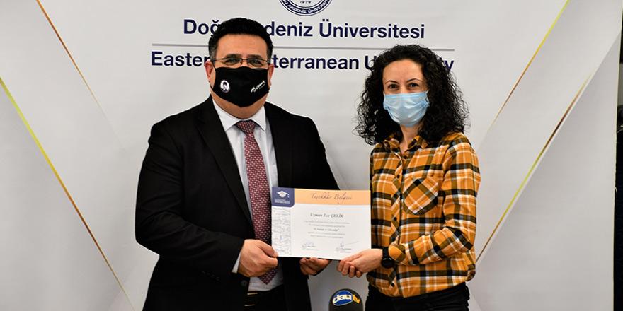 DAÜ-SEM, Avrupa Birliği projesi kapsamında eğitim veren akademisyenleri ödüllendirdi