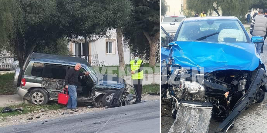 Lapta'da üç araç çarpıştı: 1'i ağır iki kişi yaralandı