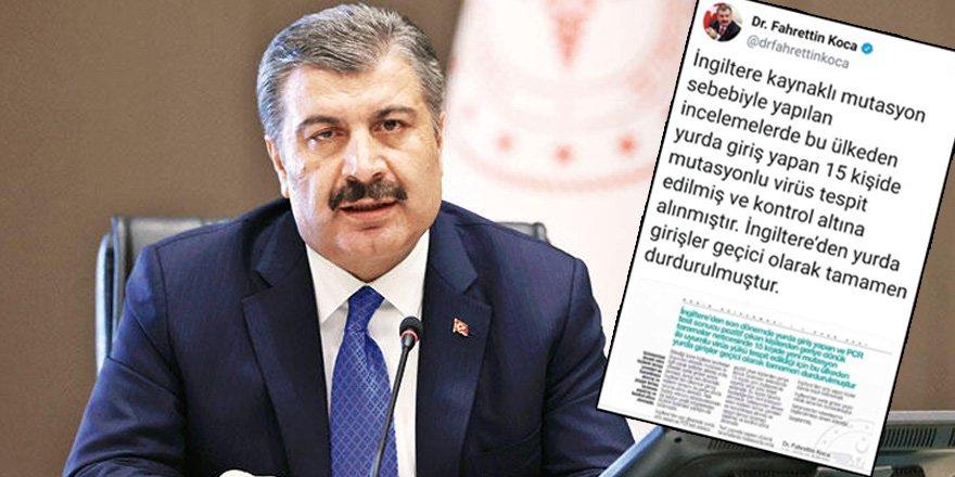 Türkiye'ye İngiltere'den girişler durduruldu