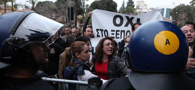 Banka çalışanları yine meclis önünde