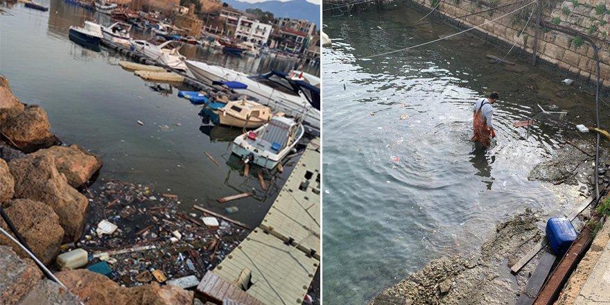 Antik Liman'da temizlik çalışması