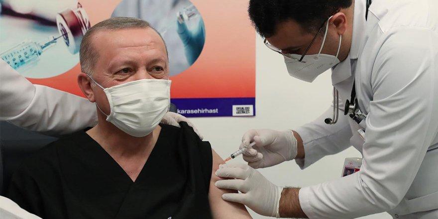 Erdoğan Coronavirüs aşısı yaptırdı