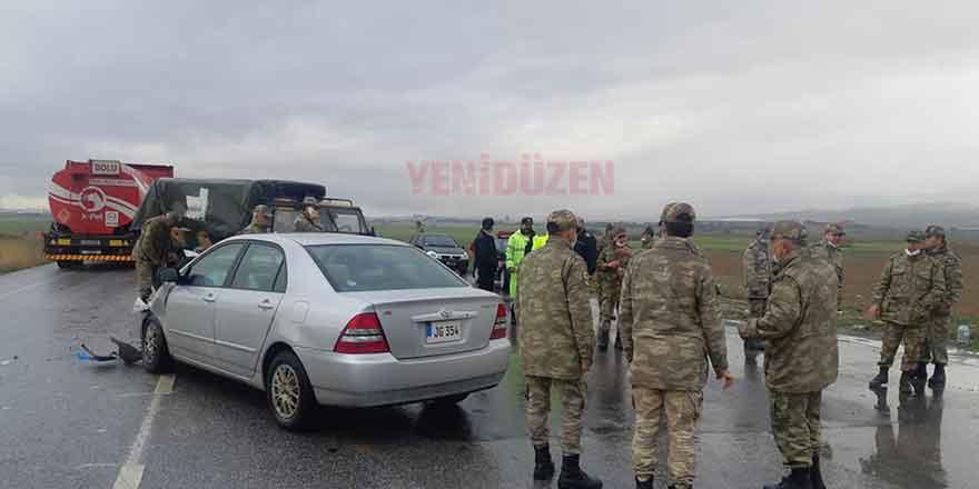 İskele-Ercan Anayolu'nda kaza
