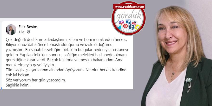 İzole olan Besim, hastanede tedaviye alındı