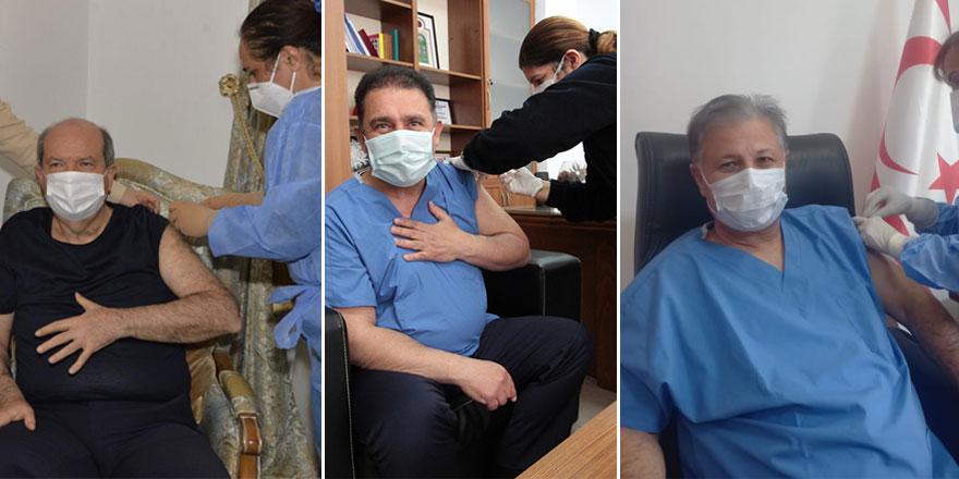 Protokol, ikinci doz aşıyı yaptırdı