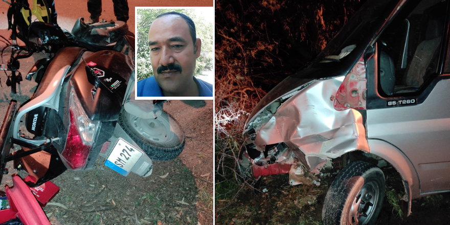 Motosikletle kamyonet çarpıştı,  Casim Sürücü hayatını kaybetti