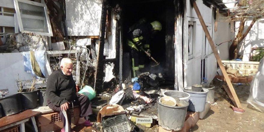 Tüpü çakmakla kontrol ederken evini yaktı