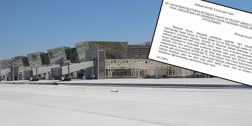 T&T Havalimanı Ltd'e KDV ertelemesi
