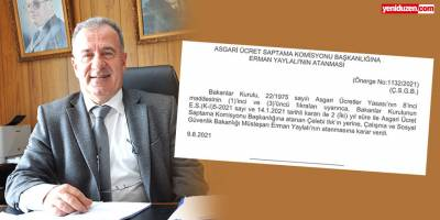 Asgari Ücret Saptama Komisyonu Başkanı Yaylalı oldu
