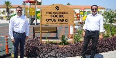 Kuzey Kıbrıs Turkcell'den, Akçay köyüne çocuk oyun parkı