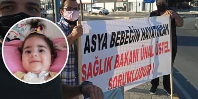 """Asya Bebek için eyleme: """"Sağlık Bakanlığı tedavi masraflarını karşılasın"""""""